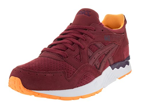 ASICS Men's Gel-Lyte V Leather/Synthetic Ankle-High Tennis Shoe Burgundy/Burgundy cheapest price for sale sale original clearance comfortable hiECuIjO