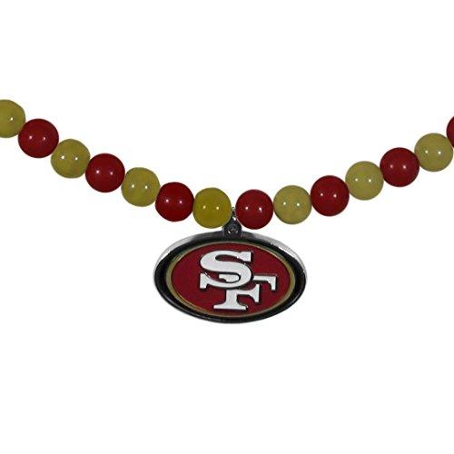Francisco Fan 49ers Nfl San (NFL San Francisco 49Ers Fan Bead Necklace)