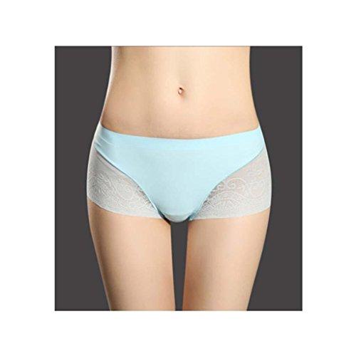 Sin fisuras señoras del algodón de la ropa interior de seda del hielo del cordón inferior de la entrepierna de la manera 3 Embalaje c