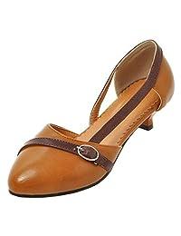 KemeKiss Ladies Casual D'orsay Kitten Heel Pumps Shoes