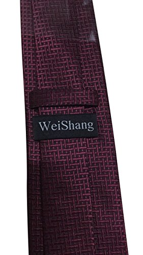 WeiShang Lot 6 PCS Classic Men's 100% Silk Tie Necktie Woven JACQUARD Neck Ties (Style 14) by WeiShang (Image #7)