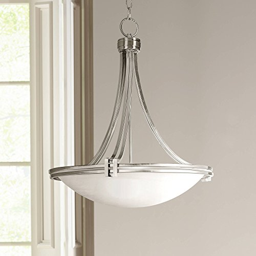- Deco Brushed Nickel Pendant Light 21 1/2