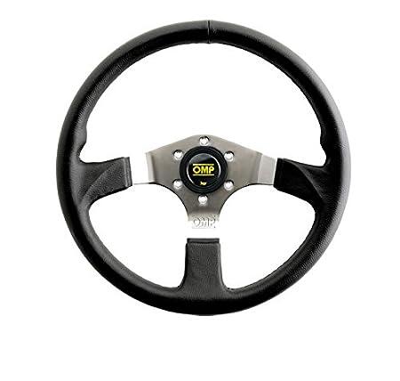 OMP OMPOD/2019/LN Asso Racing Volante piatto, con 3 raggi in acciaio, colore: nero, diametro: 350 mm