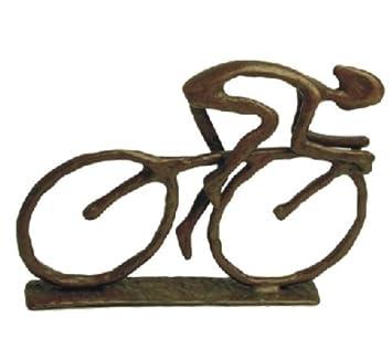 Danya B Cyclist Cast Bronze Sculpture. Amazon com   Danya B Cyclist Cast Bronze Sculpture   Bicycle