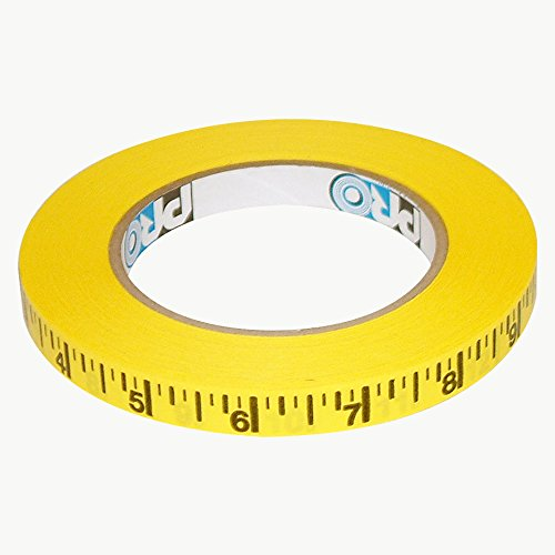 Pro Tapes Pro-Measurement Ruler Tape: 1/2 in. x 50 yds. (Yellow/Black Imperial scale)