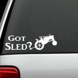 A1172 Antique Tractor Pull Sled Decal Sticker