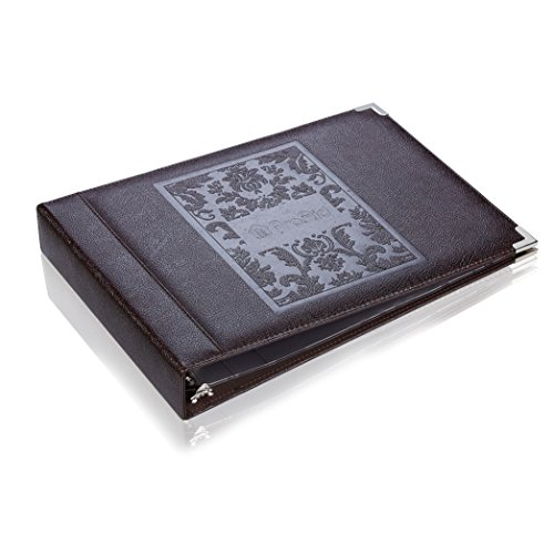 Leather Checkbook Organizer (ProAid Check Book Organizer with 7 Rings, PU Leather Checkbook Binder Suitable for Holding Check, Catalogue and Note Pads.(BWA-26B))