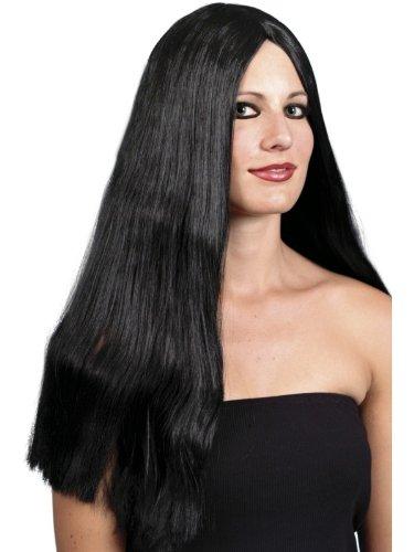 Henbrandt - Parrucca da strega, 65 cm, nera
