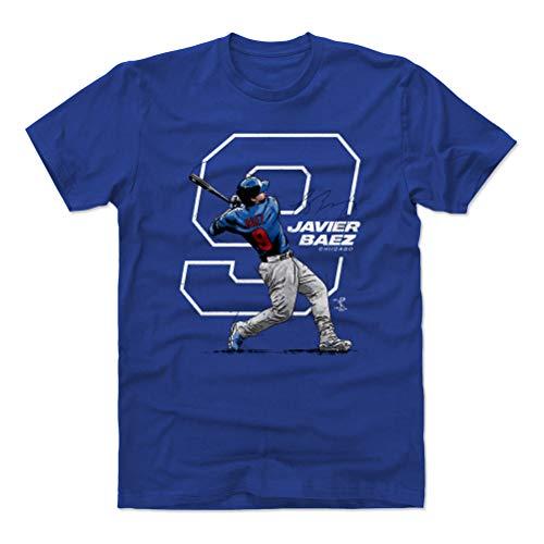 500 LEVEL Javier Baez Cotton Shirt (XXX-Large, Royal Blue) - Chicago Baseball Men's Apparel - Javier Baez Number W WHT