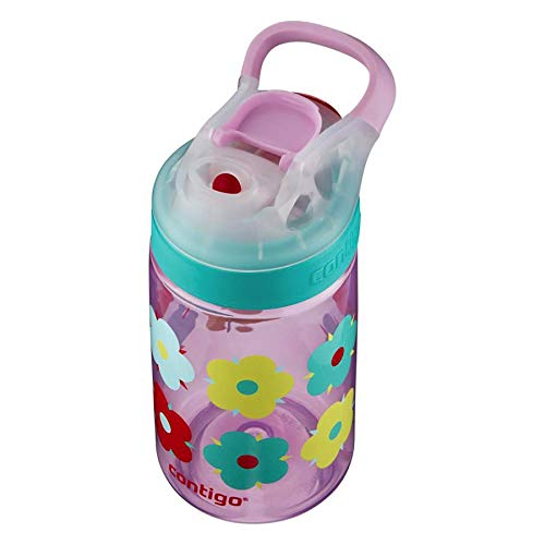 Contigo AUTOSEAL Gizmo Sip Kids Water Bottle, 14 oz., Thistle Petals
