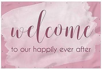 Pink Heavy-Duty Outdoor Vinyl Banner Welcome CGSignLab 9x6