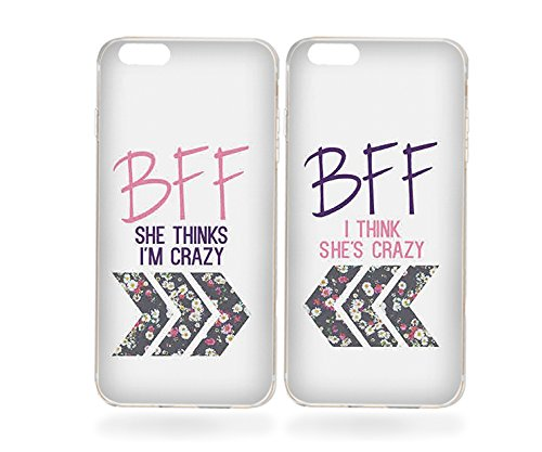 lowest price 465be 8a1fe Amazon.com: Best Friends Phone Cases - BFF Floral Phone Covers for ...
