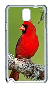Cardinal Animal Polycarbonate Hard Case Cover for Samsung Galaxy Note 3 N9000 White