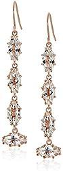 Suzanne Kalan White Topaz Drop Earrings