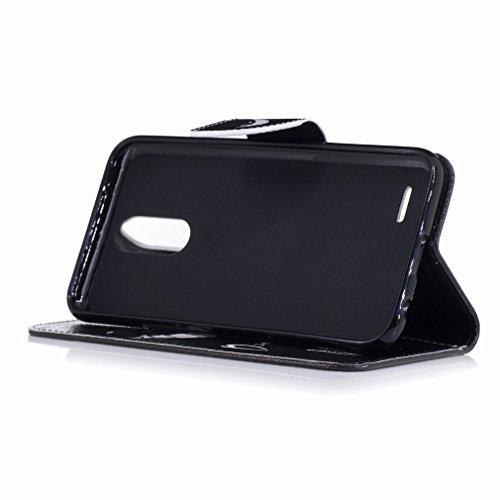 Copertura X400 Custodia M250N Protettivo Design Bumper Cover Case Portafoglio Borsa Flip Sorridono Stile K10 LG Pelle PU Libro 2017 Cavalletto Sottile Schede LG Cuoio LG Yiizy Slot Shell Denti wUqIA0