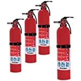 First Alert Home Fire Extinguisher - 4-Pk., Rated 1-A:10-B:C, Model# HOME1