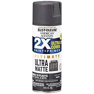 Rust-Oleum 328399 American Accents Spray Paint, 12 Oz, Ultra Matte Slate