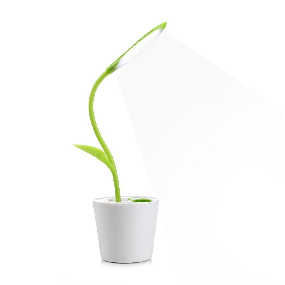 Lámpara LED de escritorio Lámpara led planta lámpara led usb con forma