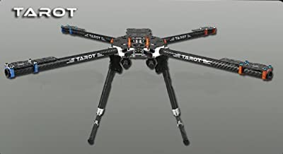ZJchao Tarot Iron Man 650 Carbon Fiber 4 Axis Aircraft Fully Folding FPV Quadcopter Frame Kit Tl65b01