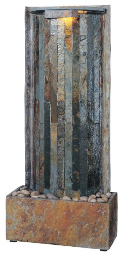 Kenroy Home #50285SL Waterwall Indoor Table/Wall Fountain in Natural Slate Finish by Kenroy Home