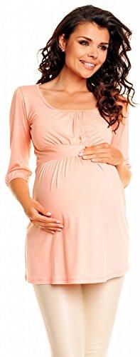 Zeta Ville De Las Mujeres Embarazo Maternidad Extra Mini Vestido Tramo Túnica Superior 940c (Albaricoque, 18)