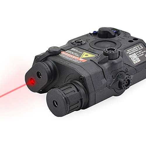ActionUnion-Airsoft-Tactical-PEQ-15-IR-Laser-Battery-Box-LED-White-Flashlight-Red-Laser-Sight-with-Lenses-Upgrade-Version-for-AEG-GBB-CQB-Black