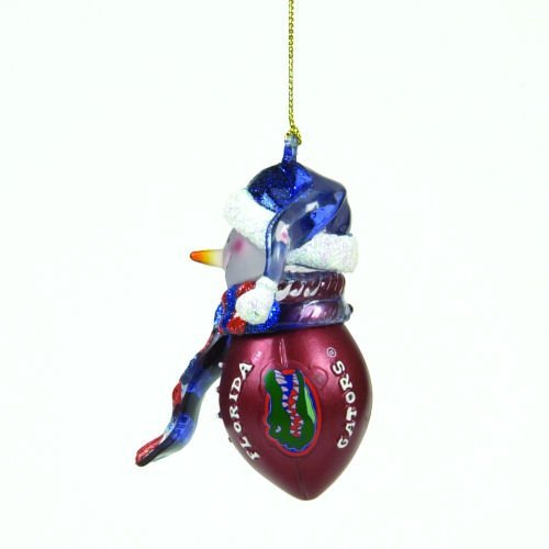 Florida Gators Striped Snowman Football Christmas Ornament (Ncaa Florida Gators Snowman)