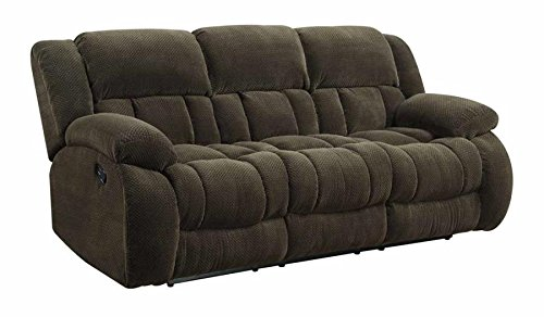 Coaster Home Furnishings Coaster 601924 Motion Sofa, Brown, Weissman Motion Collection