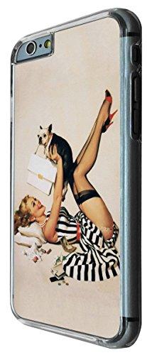 675 - Vintage Pin up Girl Sexy Design iphone 6 PLUS / iphone 6 PLUS S 5.5'' Coque Fashion Trend Case Coque Protection Cover plastique et métal