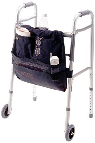 EZ-ACCESS Accessories, Walker Carryon Front Mount (2.25 lbs), Universal Fit for Most Walkers, 3 Deep Pockets, Mesh Pocket for Drink Bottle or Loose Items, Keeps Belongings at (Loose Walker)