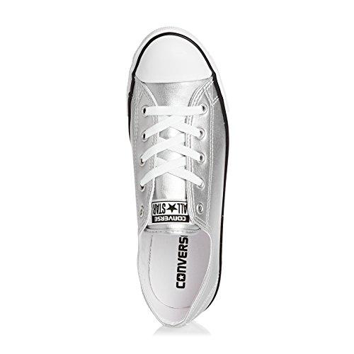 Hvide Som Kvinder Til Sneakers Sølv Fine Converse Okse Ct qPn1O6wtR