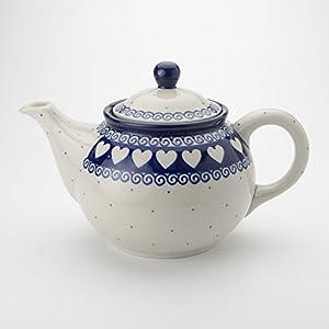 Polish Pottery Medium Teapot – Light Hearted – 3 Cup
