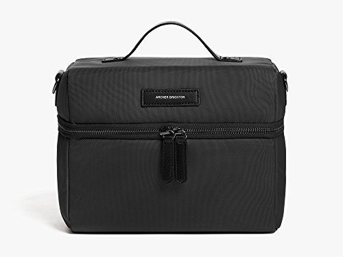 Archer Brighton Waterproof and Insulated Lunch Bag with Adjustable Crossbody Shoulder Strap, Black