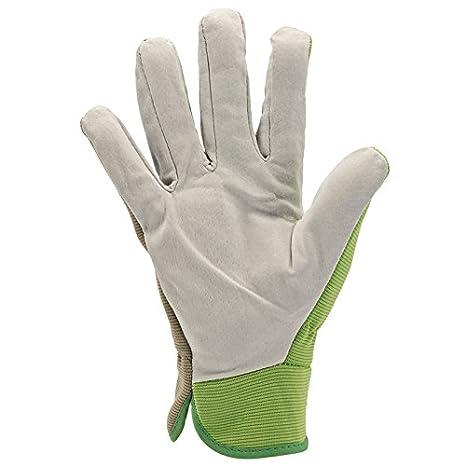 Draper Tools GGMD Medium Duty Gardening Gloves, Multicolored (White/Green), M DRA82620