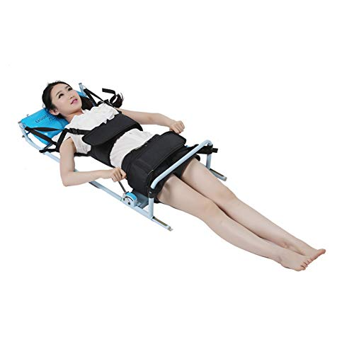 XUM Lumbar Traction Bed,Home Use Cervical Spine Extension Stretcher Device,Relieve Cervical and Lumbar Fatigue,Black