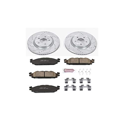 Power Stop K5583 Front Brake Kit with Drilled/Slotted Brake Rotors and Z23 Evolution Ceramic Brake Pads