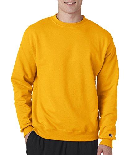 (Champion Adult 50/50 Crewneck Sweatshirt, Gold - Size X-Large)