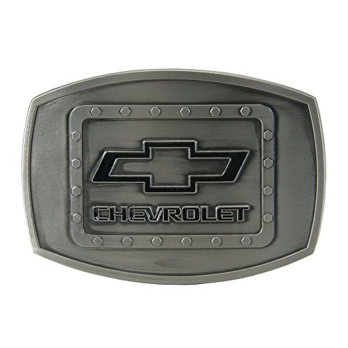 SpecCast Brand Chevrolet Riveted Brushed Pewter Buckle Belt Buckle - 09118