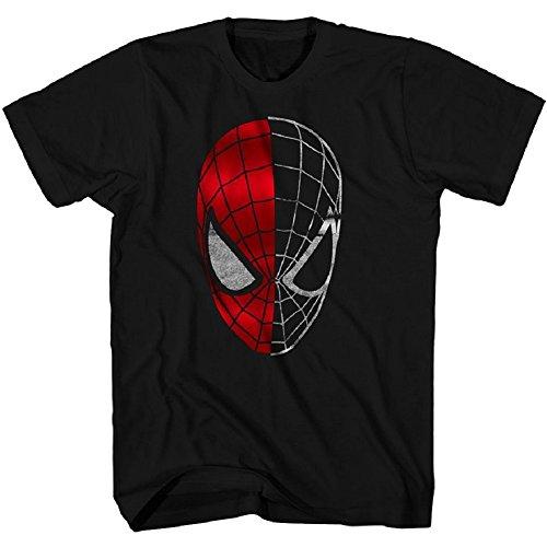 Mens' Spider-Man Half Gone Tee Black (Small)