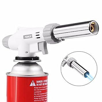 Barbacoa de gas llama antorcha pistola sopladora cocina estufa quemador soldador butano mechero soldadura: Amazon.es: Hogar