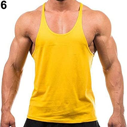 Sexy pushfocourag Tank Top Hot Mens Sleeveless Singlets Muscle Vest Gym Fitness Workout Tank Top Pure Color Sports Vest for men