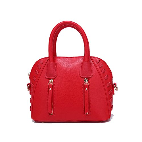 Small Fashion Shell Señora Portátil Handbag Crossbody Bolso De Shoulder Simple Bolso Red ZLLNSXKB Bag De Fresh Wild Bags Ocasional wqIgHxAtn