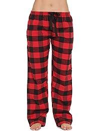 Buffalo Plaid Flannel Pajama Pants for Women with Pockets