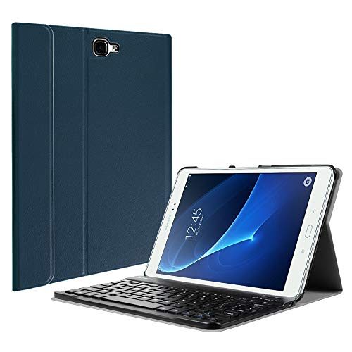 Fintie Keyboard Case for Samsung Galaxy Tab A 10.1(2016 NO S Pen Version),Slim Lightweight Stand Cover w/Magnetically Detachable Wireless Bluetooth Keyboard Compatible with Tab A 10.1 Inch, Navy