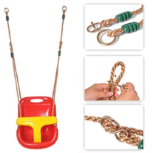 POCO-DIVO-Toddler-Swing-Seat-T-Bar-Infant-Swing-Set-IndoorOutdoor-Backyard-Kids-Fun-Red-Seat