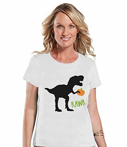 7 ate 9 Apparel Womens Dinosaur Halloween T-Shirt Small -