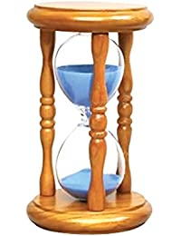 Gain 20 Pieces 5 Minute Sand Timers - Blue Sand in Natural Stand lowestprice