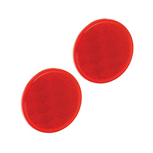 Bargman 74-38-010 Reflector (Class A 3-3/16″ Round Red with Adhesive Back – 2 Pack)