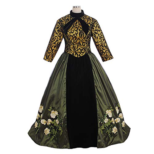 CosplayDiy Women's Dress for Cinderella's Stepmother Tremaine Cosplay Costume L -