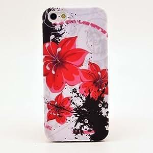 HC-Red Petunias caso de la cubierta del diseño para el iPhone 5/5S Soft